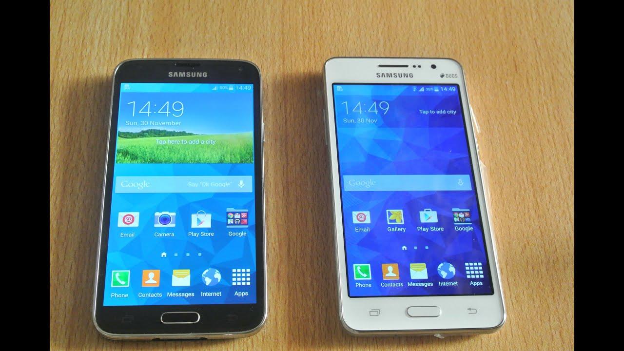 Samsung Galaxy Grand Prime Vs Samsung Galaxy S5