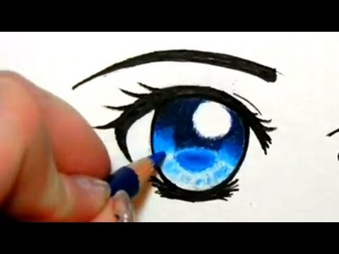 How to Colour Eyes with Pencil Crayons