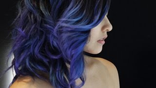 How I Did My Purple-Blue Hair (Manic Panic)