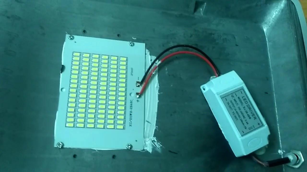Cara Perbaiki Lampu Tembak Led 100w Yang Mati Youtube