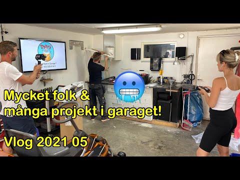 Det händer mycket nu! - Luftvärmepump, förrådsbygge, mopeder och bilar - Vlog 202105