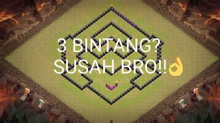 BASE TOWN HALL 9 ANTI BINTANG 3| CLASH OF CLANS INDONESIA