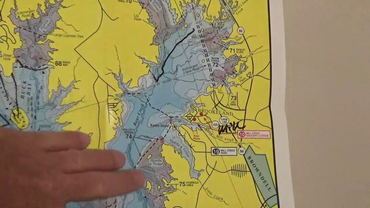map of sam rayburn lake Sam Rayburn Bass Fishing Navigational Guide Fishing Tips Video 1 map of sam rayburn lake