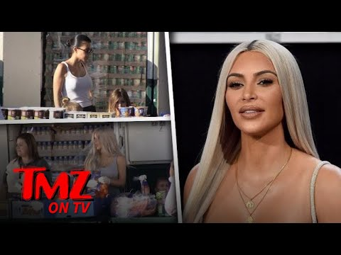 Kim and Kourtney Are In The Giving Spirit | TMZ TV
