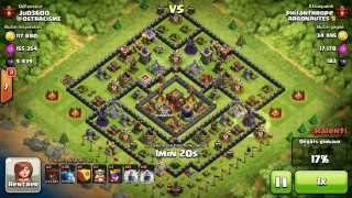 BM032 Balloons and Minions Strategy against champion level opponent - Clash of Clans CoC
