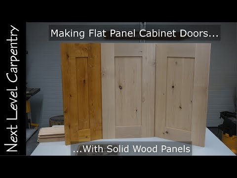 How to Make Professional Grade Flat Panel Cabinet Doors