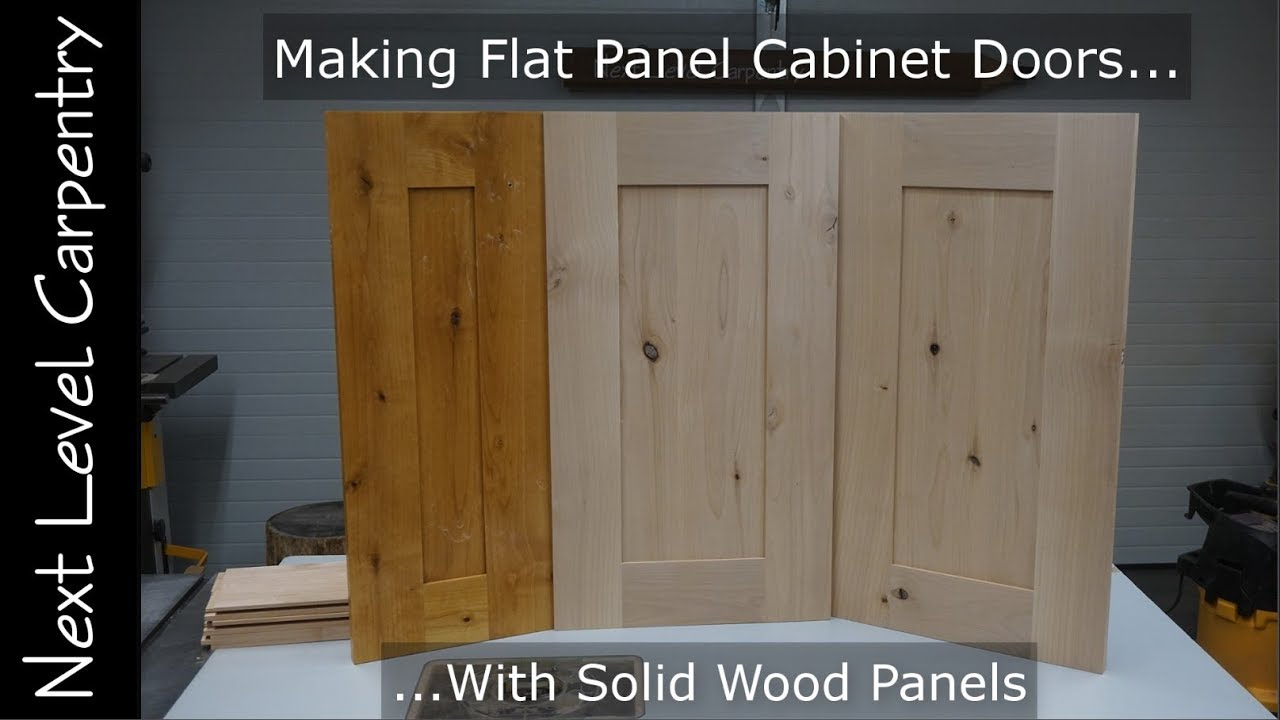 How To Make Professional Grade Flat Panel Cabinet Doors Youtube
