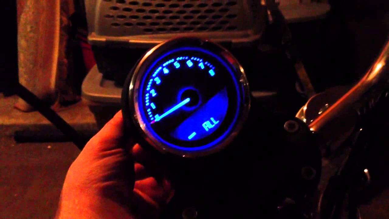 Harley Dyna Harley 4 Inch Combination Speedo And Tach - Youtube
