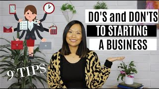 DON'T Do This If You Want to Start a Business | 9 Tips to Start an Online Business