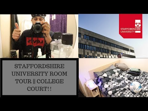 STAFFORDSHIRE UNIVERSITY ROOM TOUR|| COLLEGE COURT!