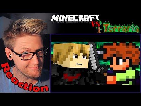 Minecraft vs Terraria - Video Game Rap Battle REACTION! | SURVIVAL! |