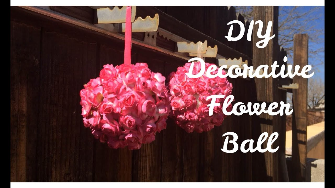 Diy Decorative Flower Ball Youtube