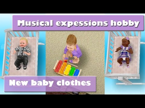 SIMS FREEPLAY MUSICAL EXPESSIONS NEW BABY CLOTHES