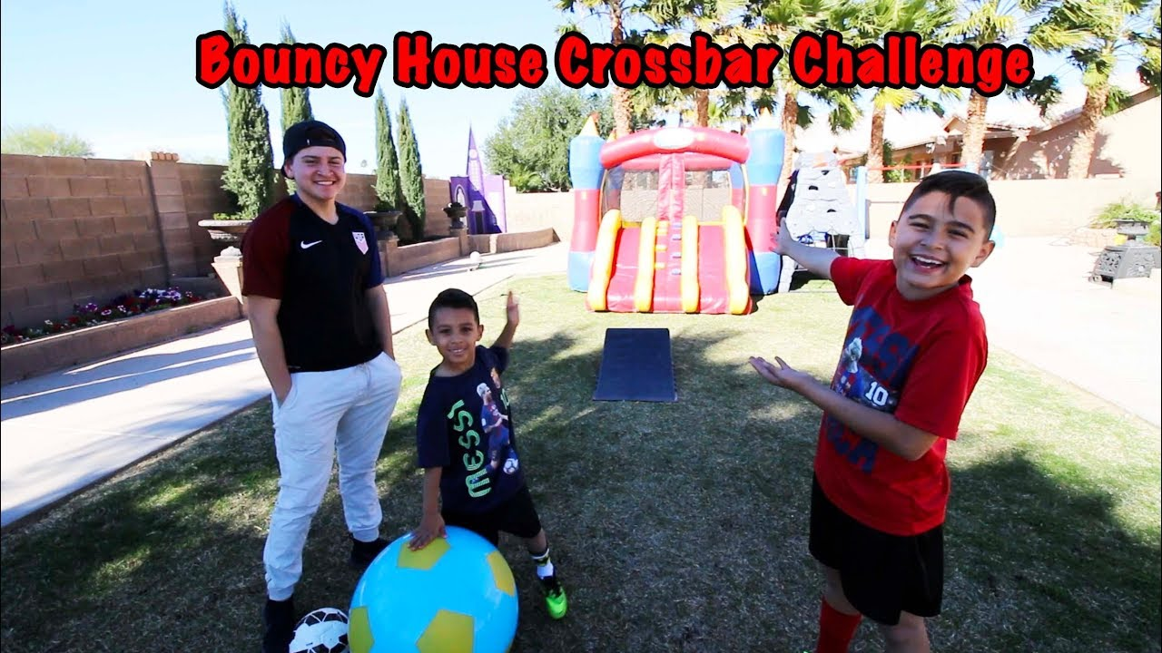 Bouncy House Crossbar Challenge And Dodgeball Funnest