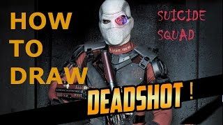 HOW TO DRAW DEADSHOT►WILL SMITH |from SUICIDE SQUAD How to draw a villain
