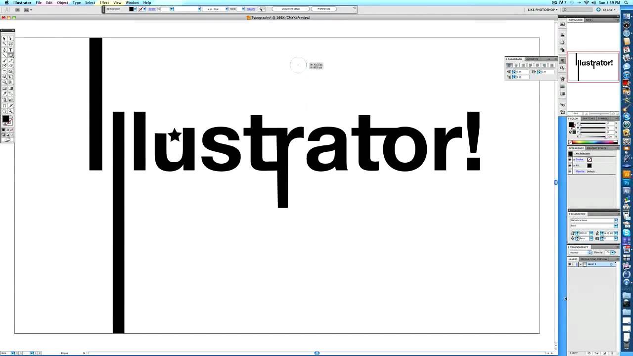 illustrator typography tutorial by imodernarts youtube