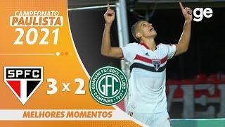 SÃO PAULO 3 X 2 GUARANI | 최고의 순간 | 9 차 파울리스타 2021 | ge.globo