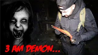 3 AM CHALLENGE IN THE DEMON HOUSE! (FOUND THE MISSING GUN)