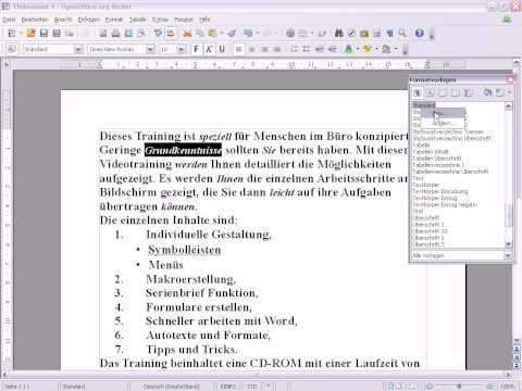 Openoffice Writer Formatvorlagen Erstellen
