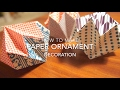 Instructions: How To Make Origami Paper Ornament Decoration