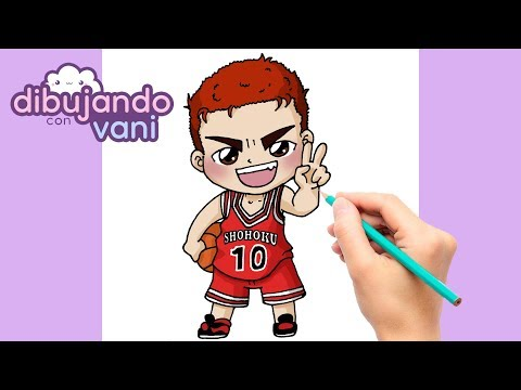 COMO DIBUJAR HANAMICHI SAKURAGI DE SLAM DUNK KAWAII - DIBUJOS ANIME - How to draw hanamichi