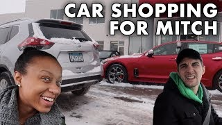 hot girl buys sportscar
