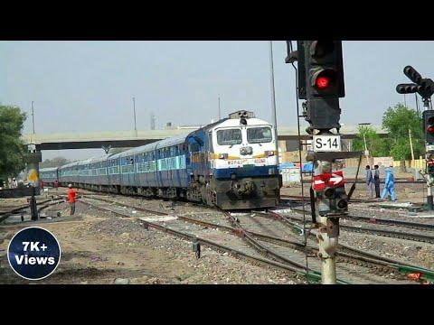 SNAKE SHAPE~ KOTA SF EXPRESS ARRIVING HANUMANGARH JN    INDIAN RAILWAY   