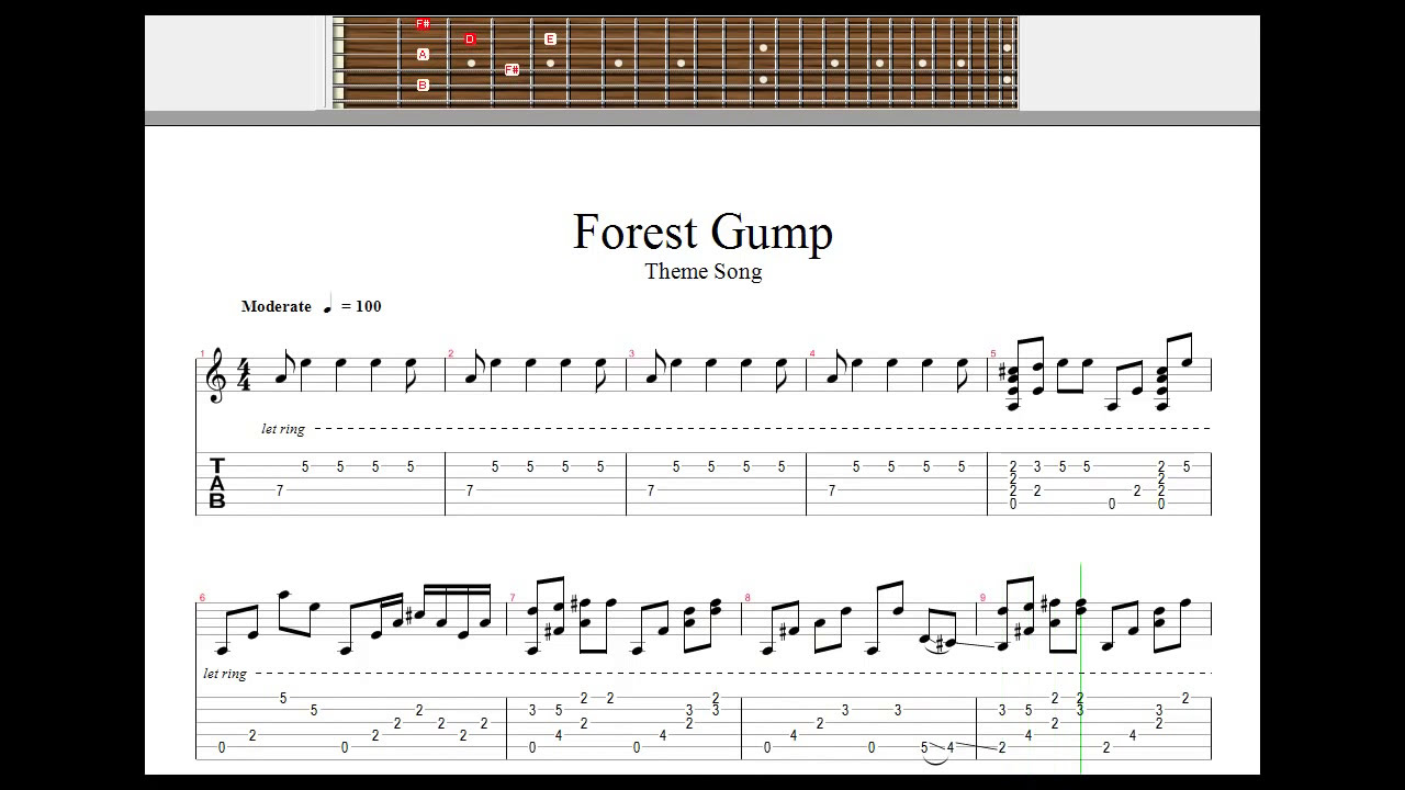 forrest gump theme song piano sheet music pdf