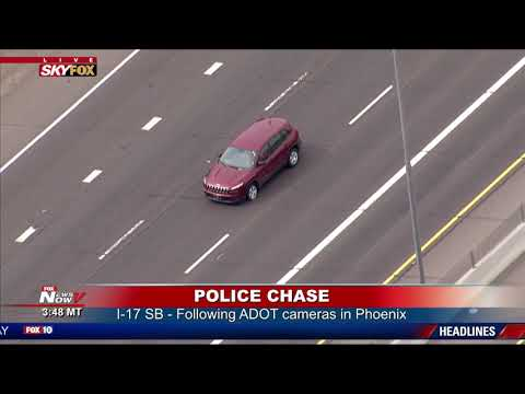 SUSPECT DID WHAT?! Phoenix Police Chase Bizarre Ending