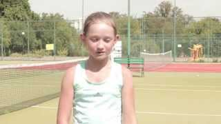 Школа Тенниса Фаворит в Киеве. Липова Анастасия, 12 лет