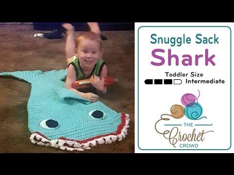buy popular bad95 45d4f How To Crochet A Fin-tastic Shark: Toddler Snuggle Sack
