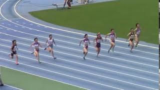 2015国体東京予選 女子少年B 100m決勝 守田紗矢香  中島沙弥香