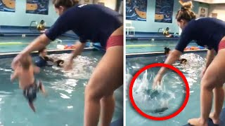 Mom Gets Death Threats for Method of Teaching Kids to Float