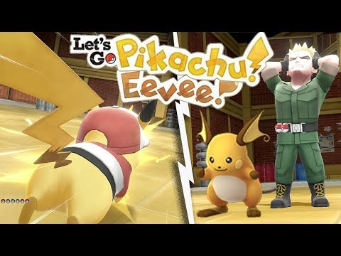 EASILY BEAT Lt. SURGE - VERMILION CITY GYM in Let's Go Pikachu Eevee