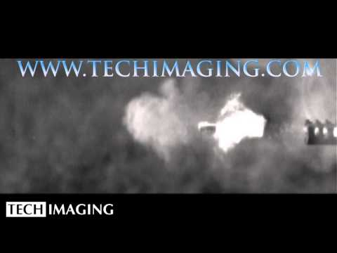 High Speed Camera Video - 45 cal bullet leaving gun barrel