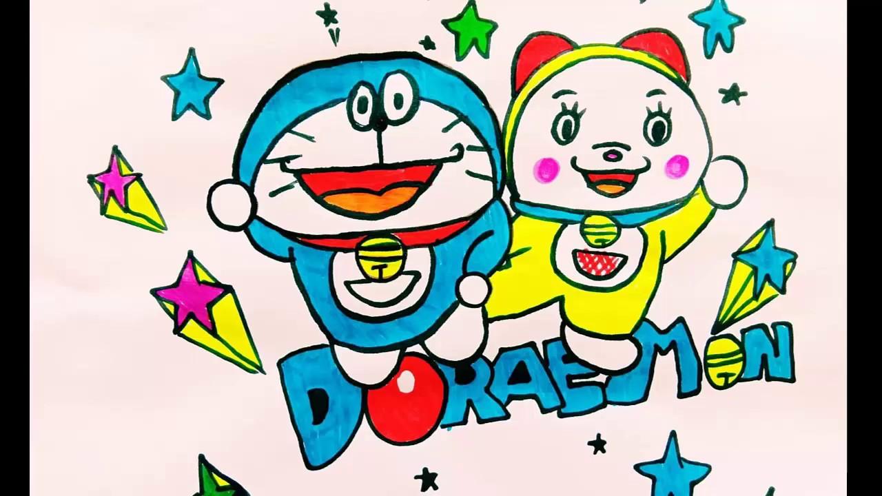 Draw Doraemon and Doraemi / Vẽ Doraemon và Doraemi