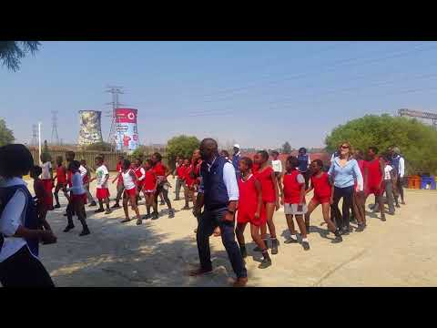 Soweto School Children Dance the Electric Slide with INMED's CEO