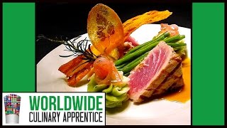 Food Plating - Food Decoration - Plating Garnishes - Food Arts - Food Presentation. Sea Food