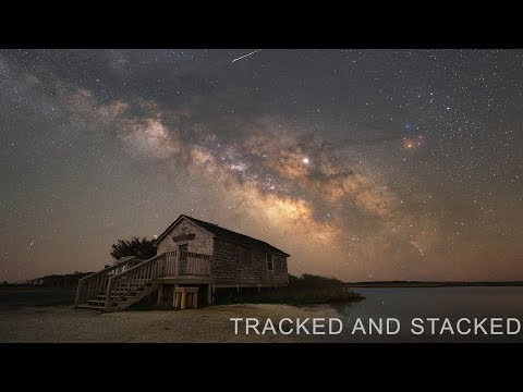 Stacking Tracked Milky Way Exposures & Compositing Them With A Foreground