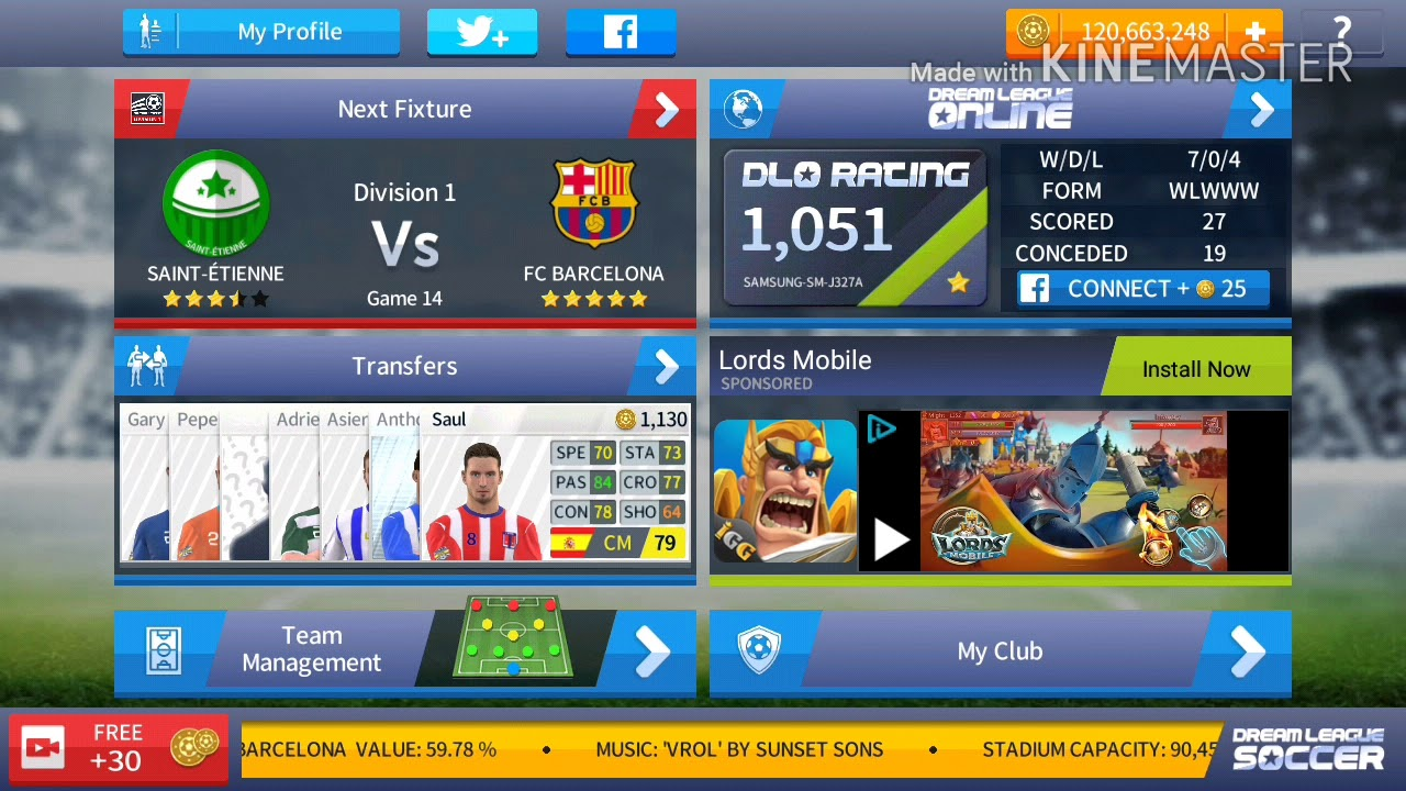 4f1e40deb How to build Camp Nou Stadium In Dream League Soccer - YouTube