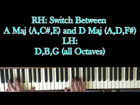 How To Play Somebodys Baby On Piano W Chords Youtube