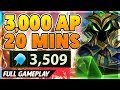 *NEW RECORD* 3,000 AP IN 20 MINUTES!!! (I NEXUS ONE-SHOT) - BunnyFuFuu Full Gameplay
