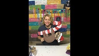 How to Paint a Sloth on a Candy Cane with Tamara Bennett