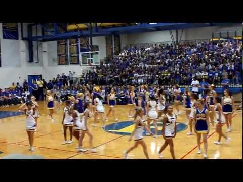 FHS cheer homecoming pep rally 2011