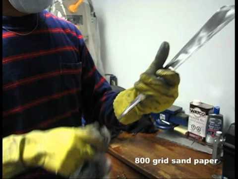 Decorative Kung Fu Steel Fan Fabrication -- 4/5  :  Steel Polishing