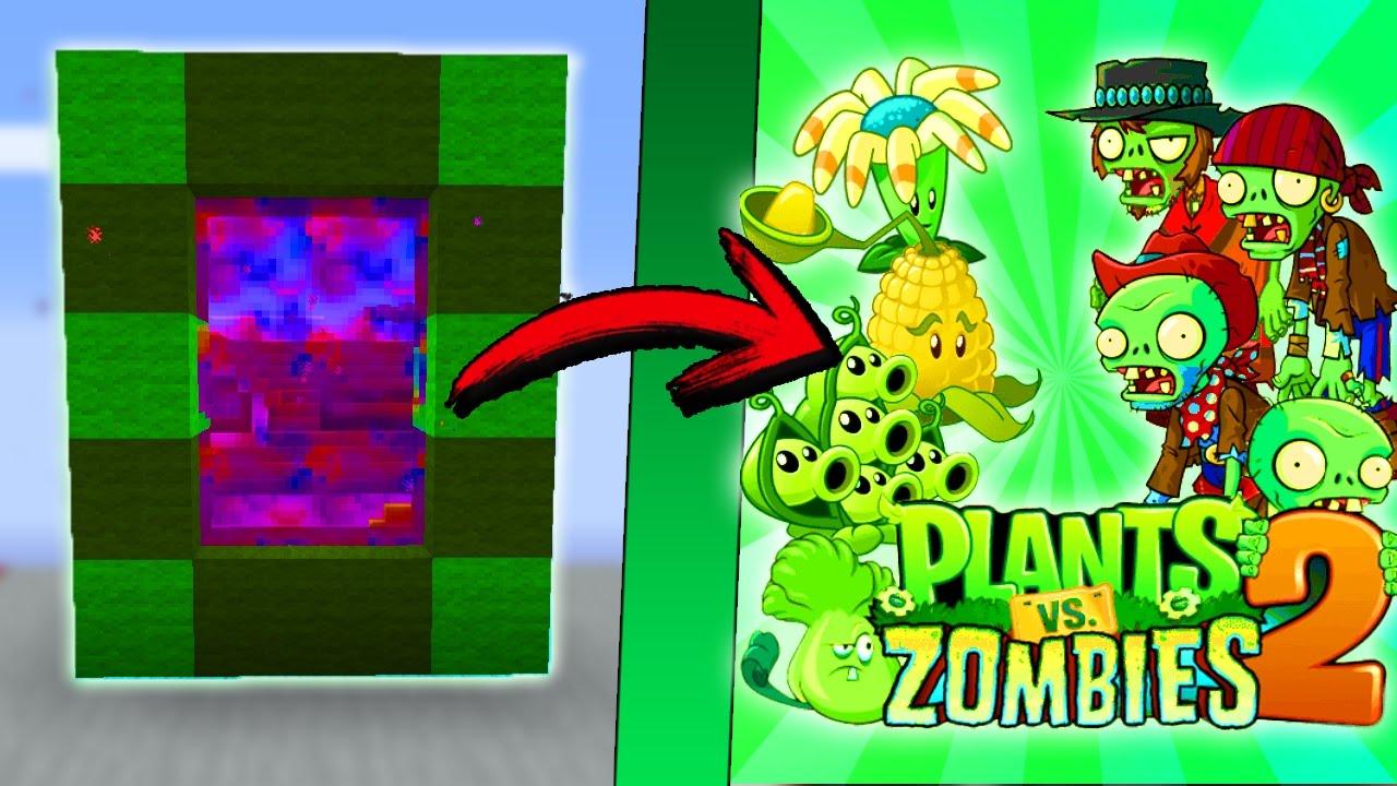 Minecraft como hacer un portal a la dimension de plantas for Como hacer la casa de plantas vs zombies en minecraft