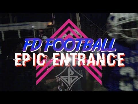 EPIC ENTRANCE - Friday Night Football @ Fort Dorchester High School 2017