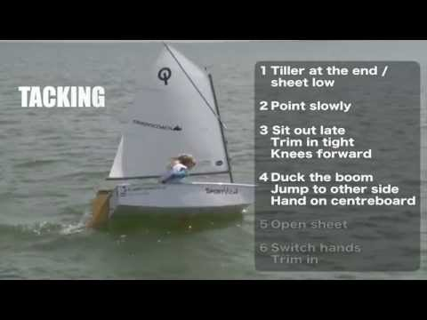 Access Card: Dinghycoach Optimist Technique Video EX1435. Gybing, Tacking & Starting.