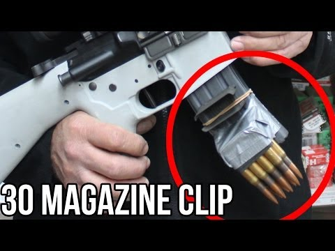 30 Caliber Magazine Clip in a Half Second! (With the world's FASTEST shooter, Jerry Miculek)