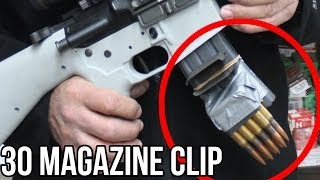 30 Caliber Magazine Clip in a Half Second! (With the world's FASTEST shooter, Jerry Miculek) thumbnail